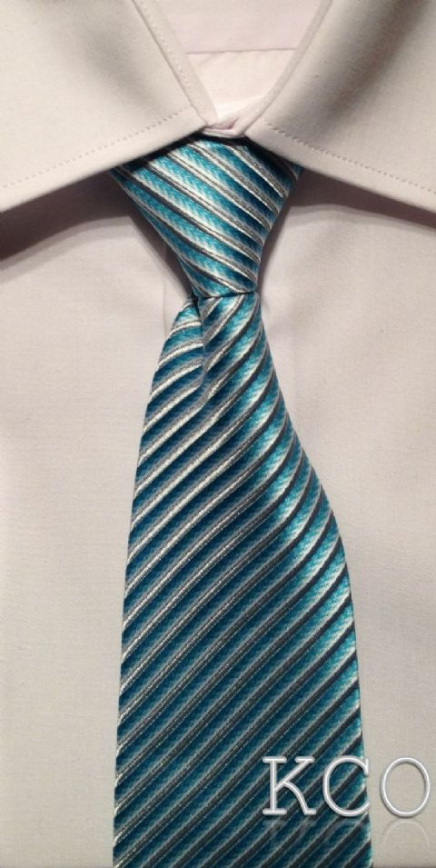 Elasticated Tie~ Style 140E Turquoise